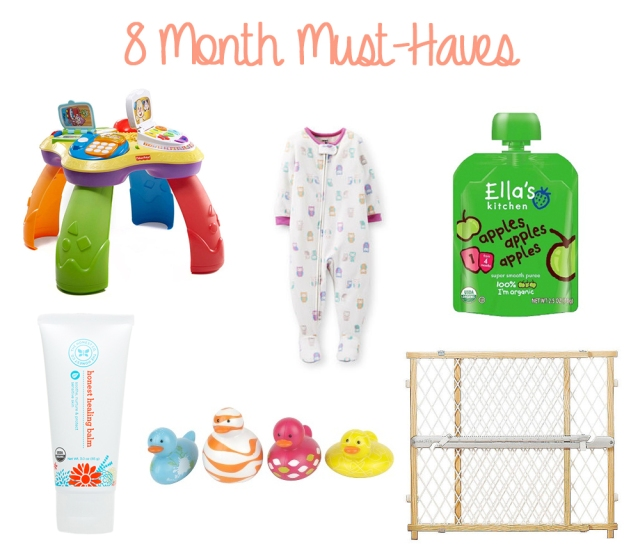 8 Month Baby Must Haves